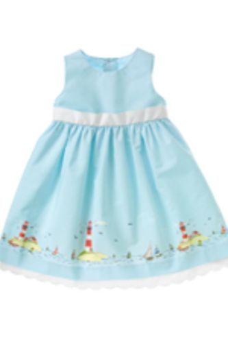 dc014c0e1 Janie and Jack Nautical Lighthouse Dress Size 0-3 Months EUC | good ...