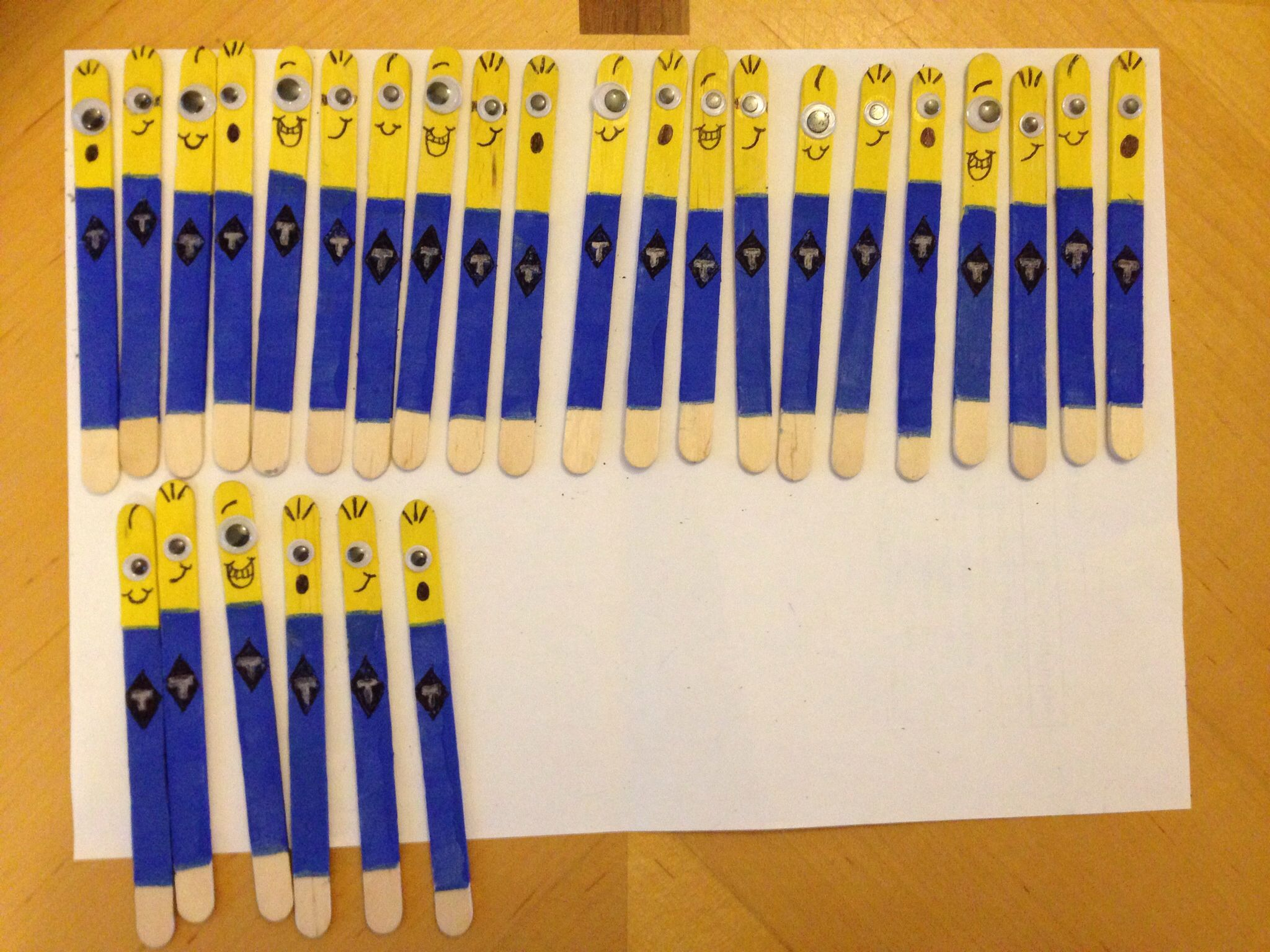 Minion Lolly Stick Book Markers Toys Painted Goggle