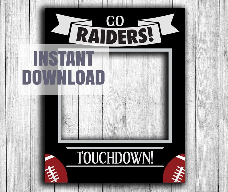Custom Order for vickyrobles2 | Football fans, Raiders and Photo booth
