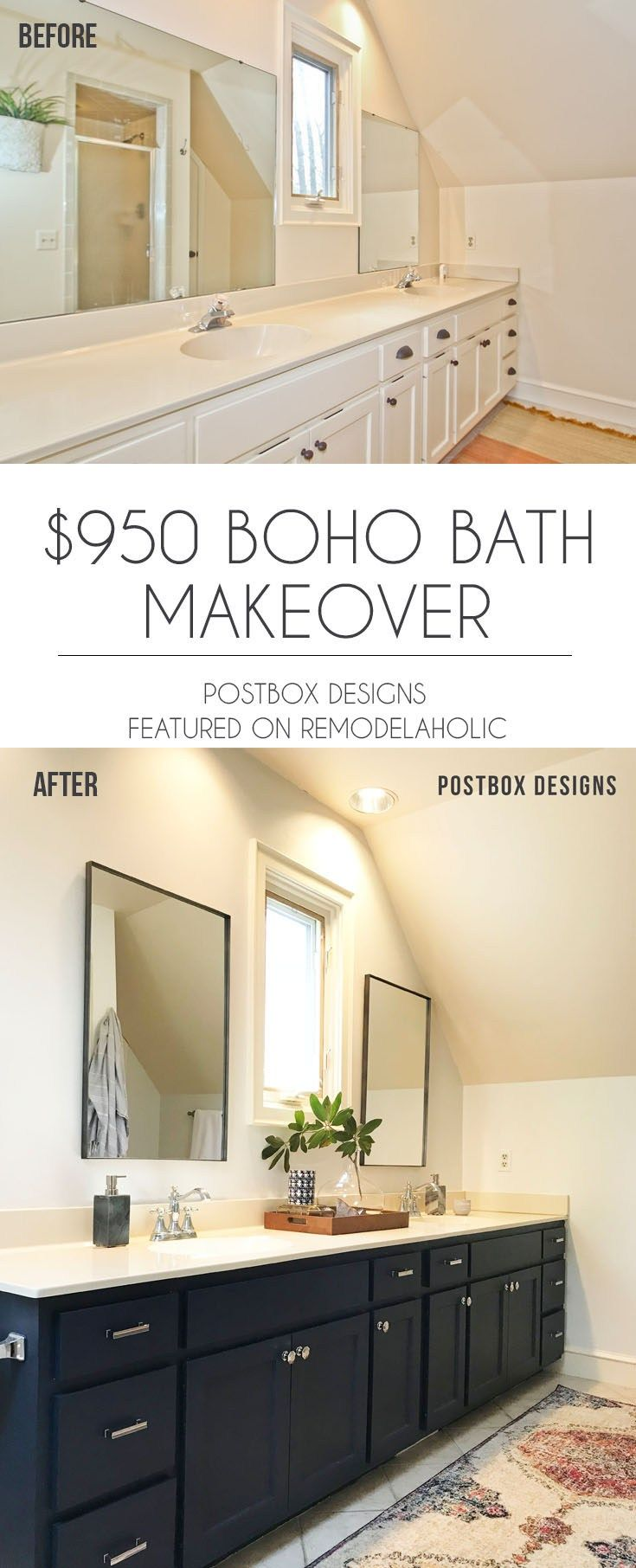 budget bathroom makeover how  updated my without  full remodel also diy house renovation ideas with before and after picture rh pinterest