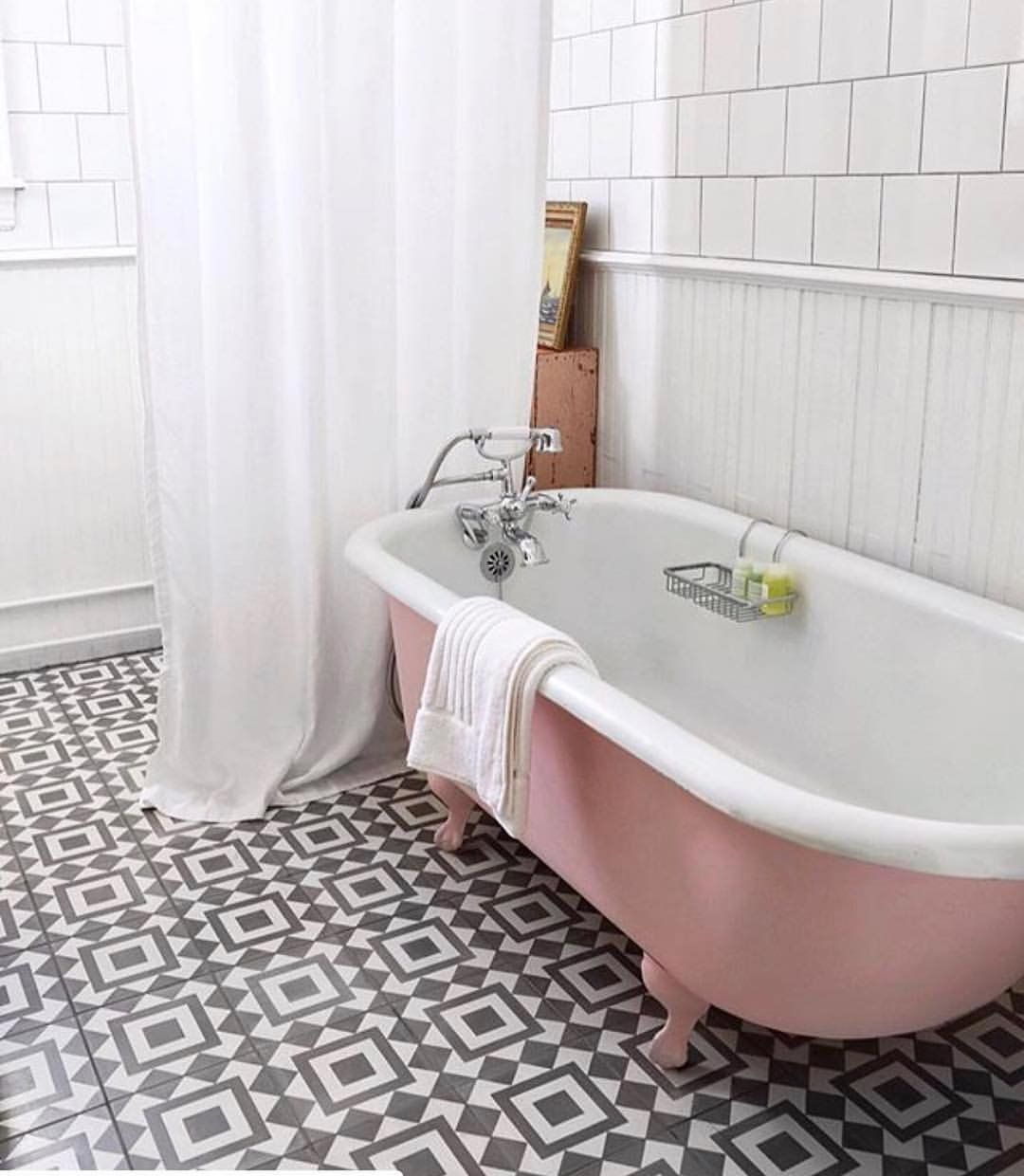 Mint The Spring Summer 2020 Colour Trend Pink Tub Shabby Chic Bathroom Pink Bathroom Tiles