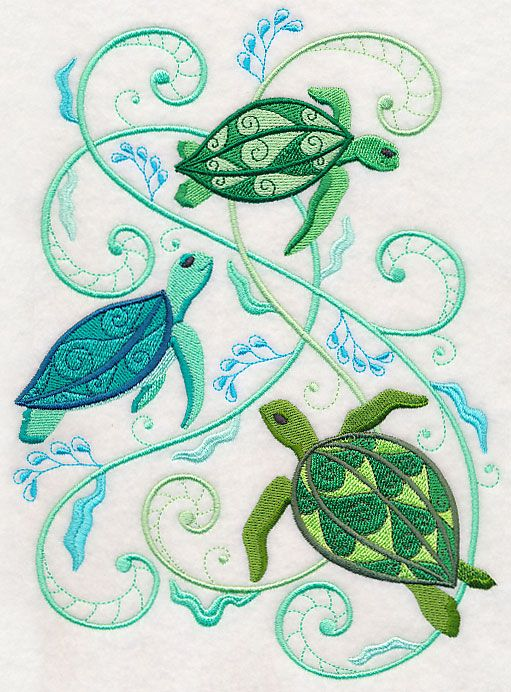Turtles And Seagreens Design M4596 From Www Emblibrary