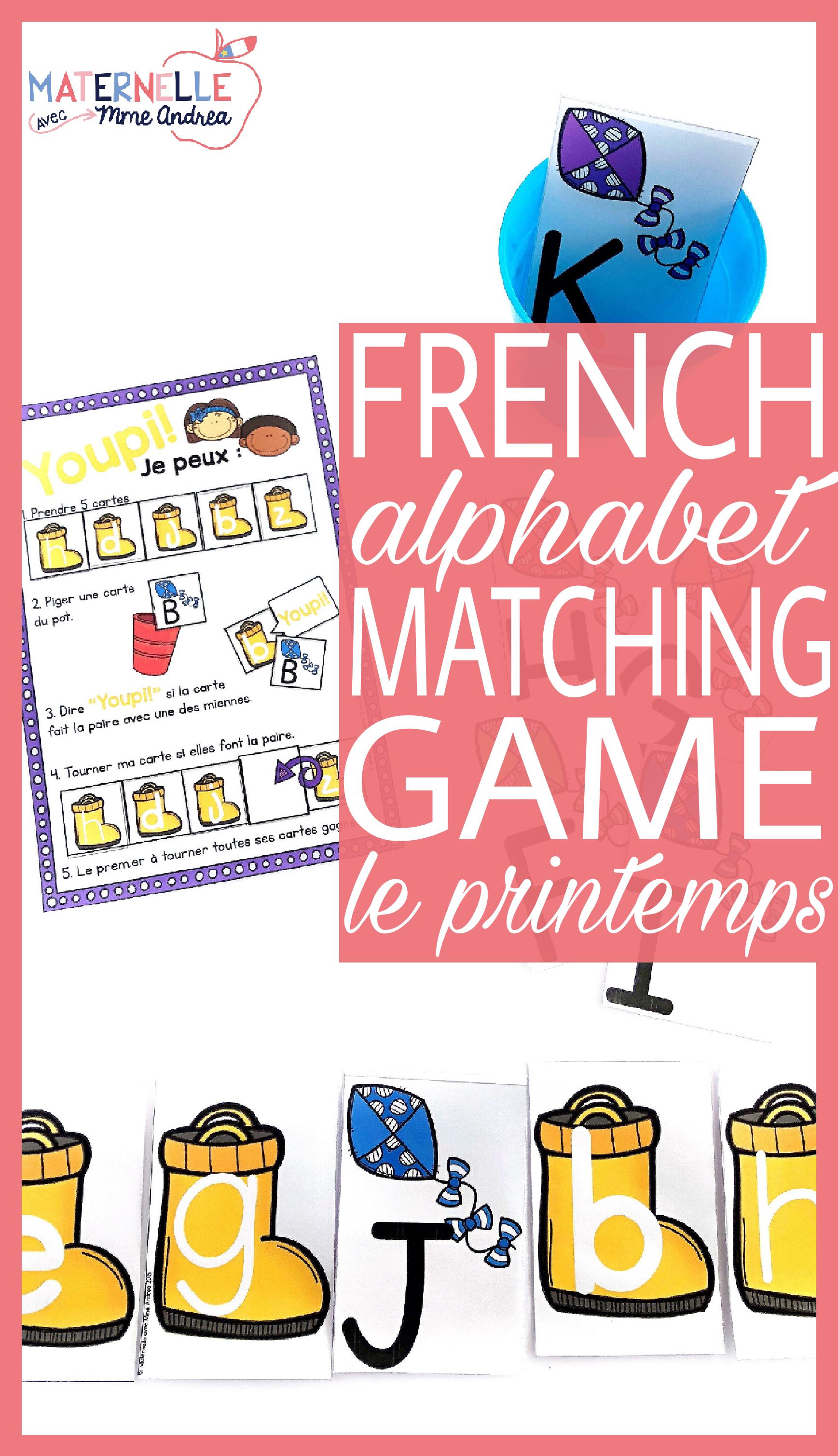 Jeu Youpi! Printemps - FRENCH Spring themed game/literacy centre ...