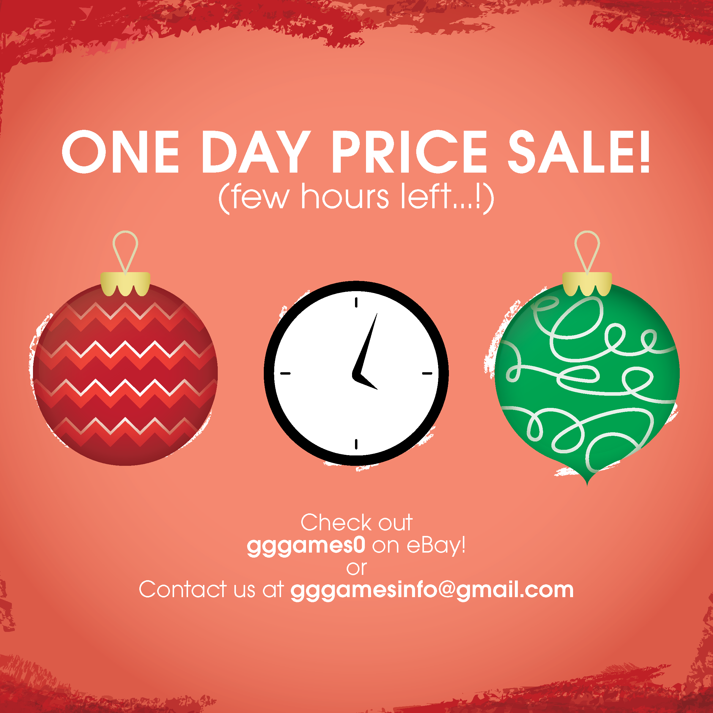 ONE DAY PRICE SALE! (few hours left…!) Shop now at gggames0 - Find us on  Instagram   gggames0 --- Happy Holidays! 122ddc7a1