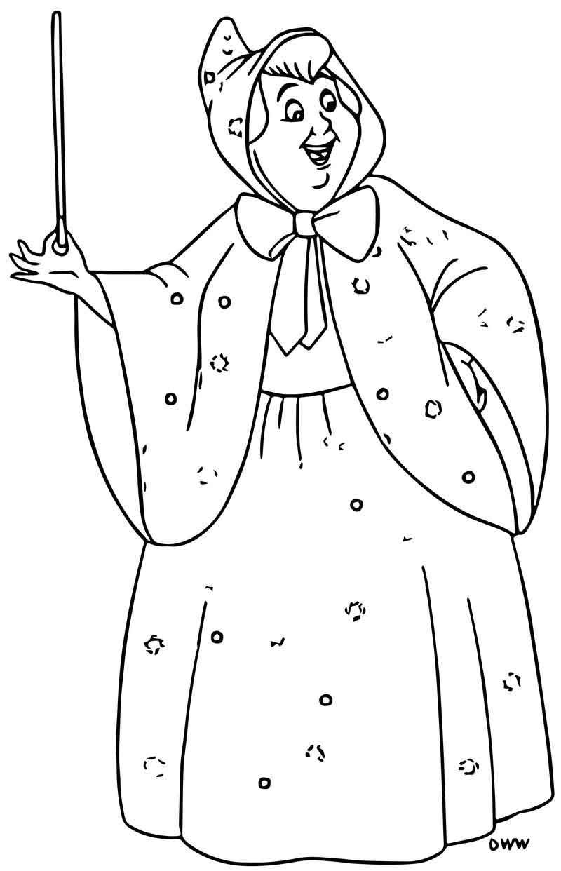 Cinderella Fairy Godmother Coloring Pages 12 Fairy Coloring Pages Cinderella Coloring Pages Coloring Pages