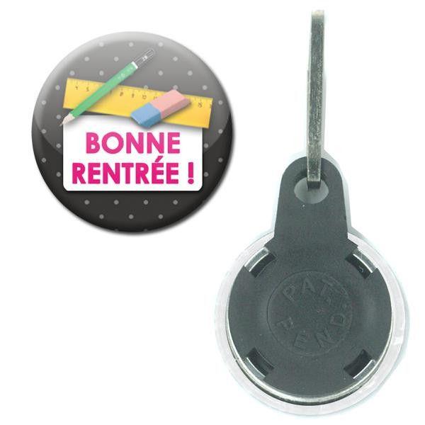 Bonne rentrée Ecole régle Tirette Badge 25mm de Fana-Shop sur DaWanda.com