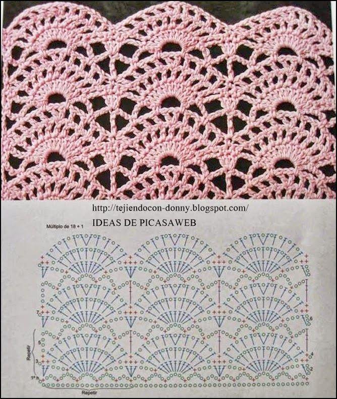 Patrones crochet ganchillo graficos puntos muy - Puntos para tejer ...