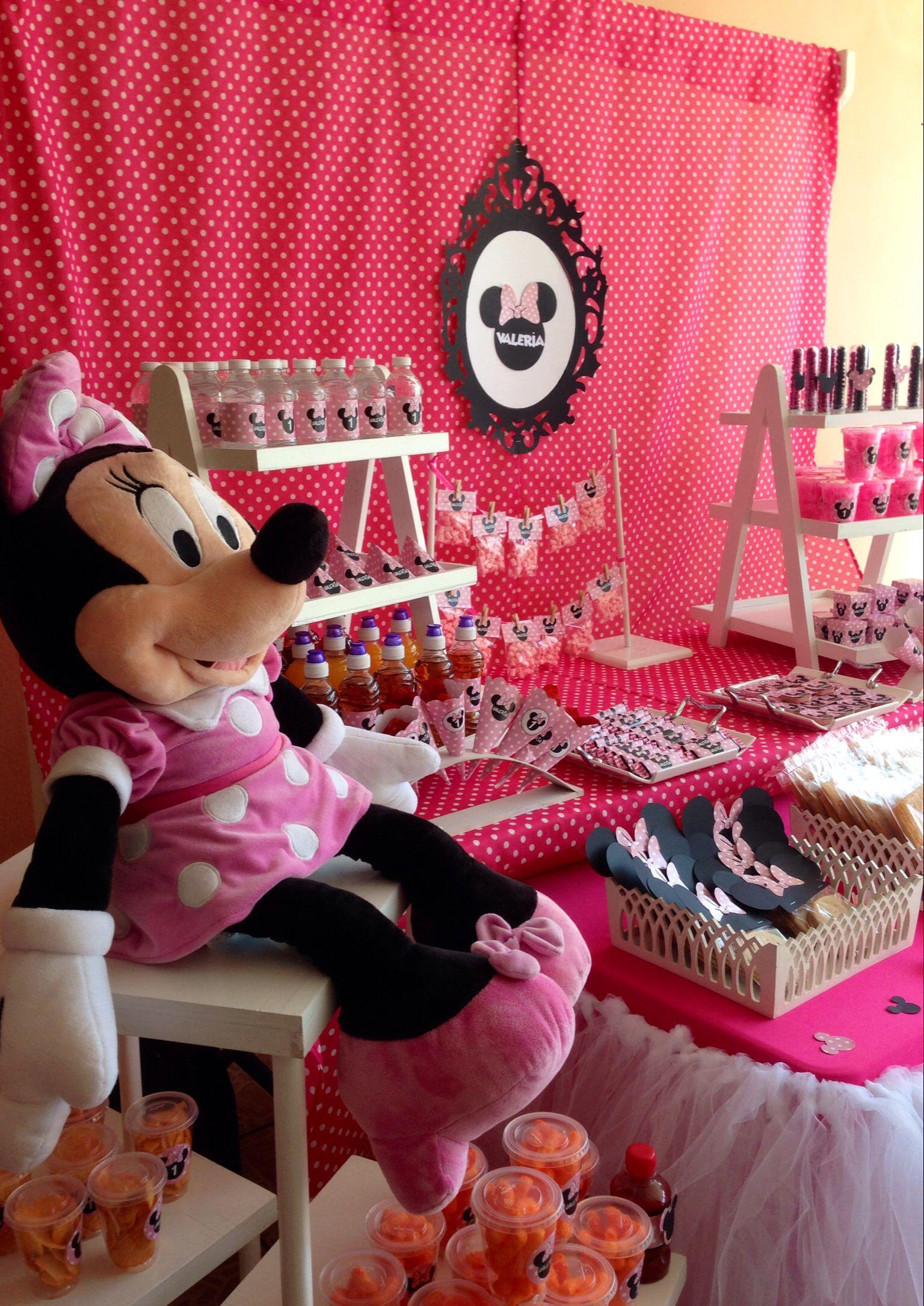 Mesa de dulces minnie | Minie party | Pinterest | Minnie mouse, Mice ...