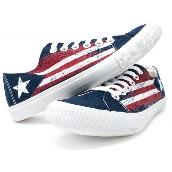 e10927804859 Women s Shoes, Fashion Sneakers, Ann Arbor T-shirt Co. Puerto Rico Flag  Sneakers   Cute Fun Rican Nuyorican Gym Tennis Shoe - Women Men - Blue -  CS185R2WLQ6 ...