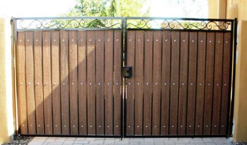 Decorative Straight Top Rv Gate Con Imagenes Puertas De Jardin
