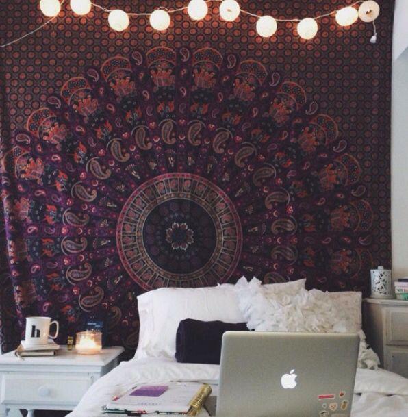 boho dorm room  Bedroom Inspiration  Pinterest  Dorm  ~ 071352_Boho Dorm Room Ideas