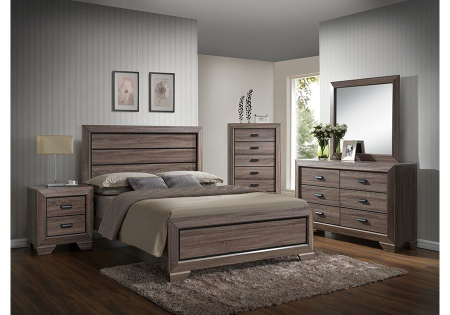 Farrow Driftwood 8 Pc King Bedroom Modern Bedroom Furniture Sets
