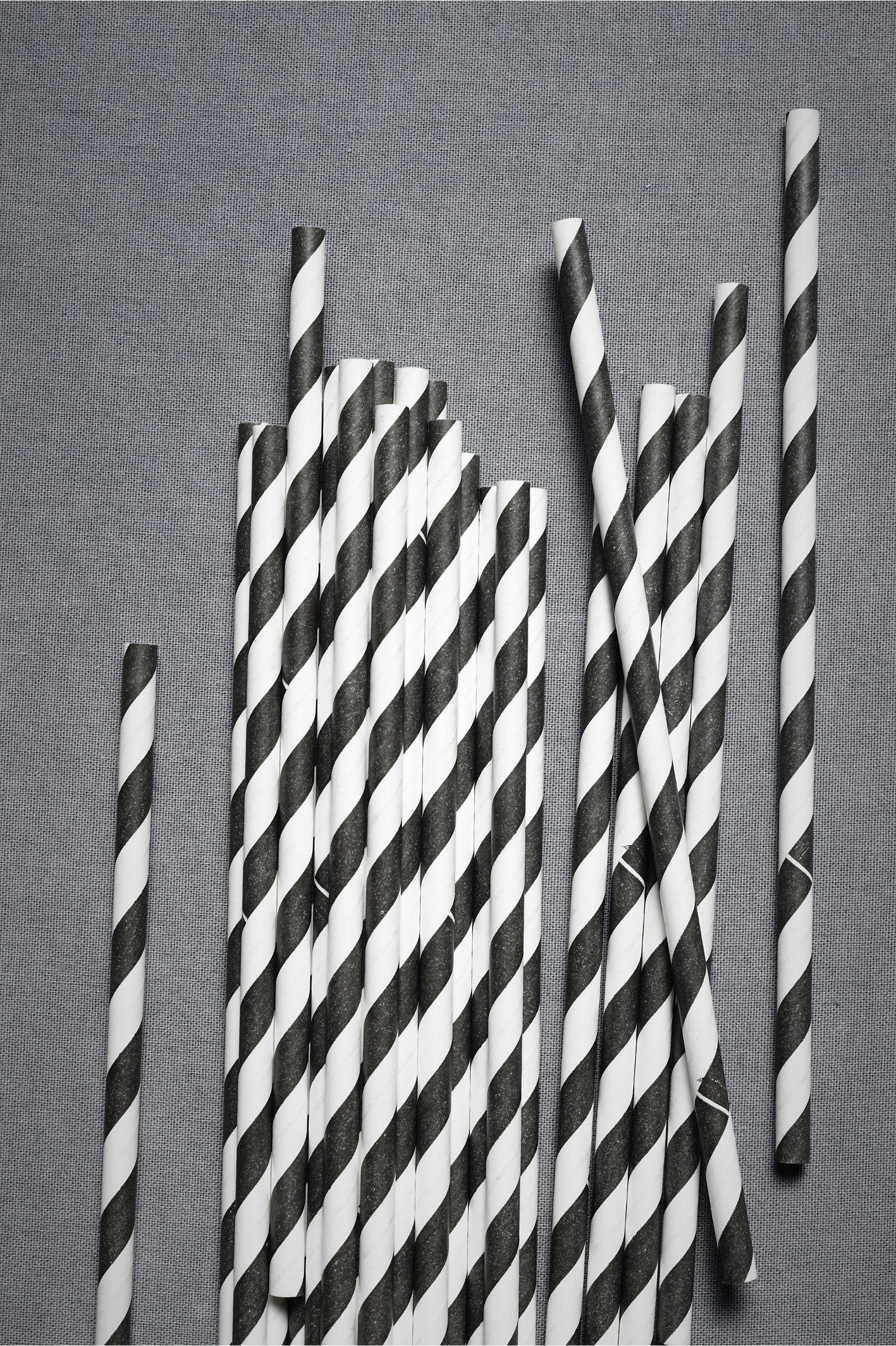 Spiraled Shoppe Straws (25) From Bhldn