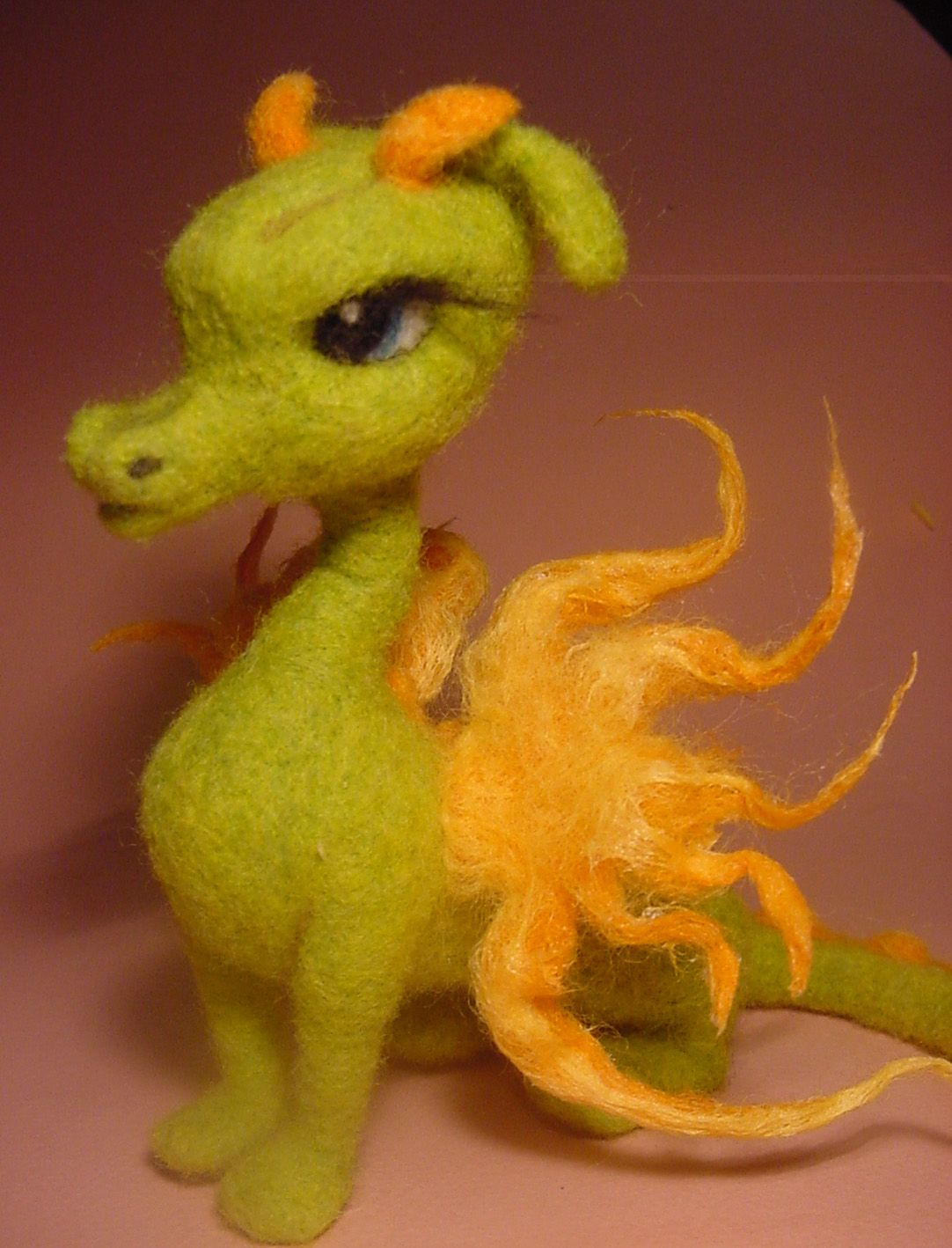 felted dragon