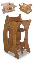 Amish 3 In 1 High Chair Plans Baby That Vibrates Sitter Woodworking Pattern Home Decor Pinterest