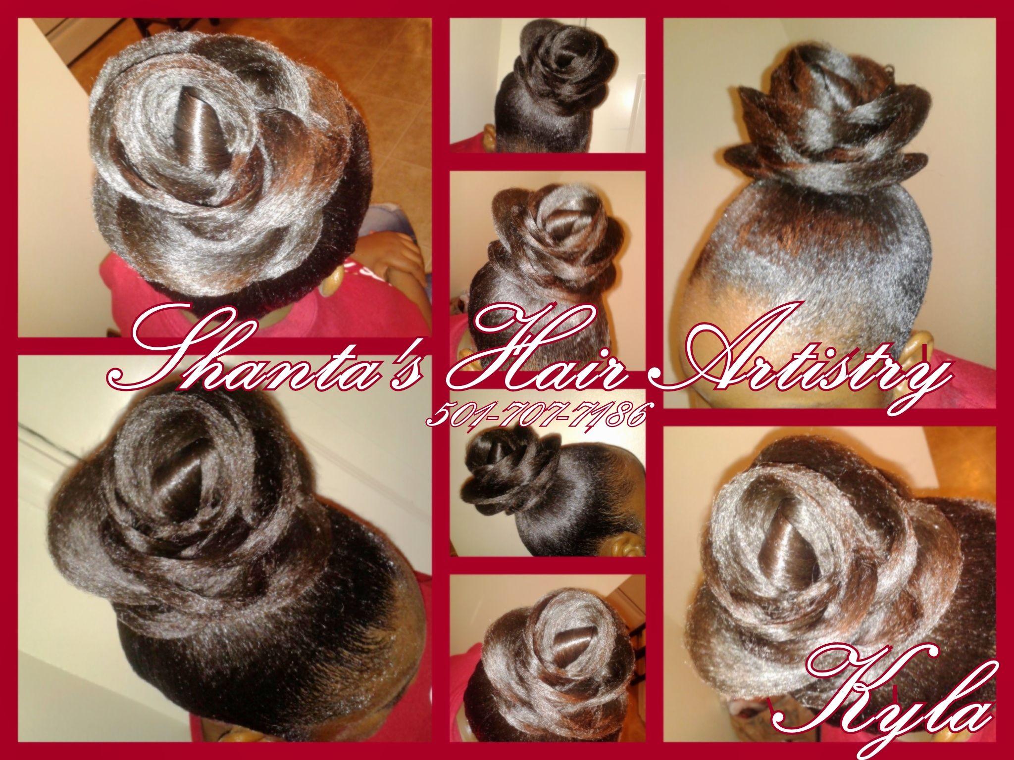 Little Rock Arkansas Hairstylist Flower Hair Updo Hairstyles Unique Wedding Creative Multicultural Stylist
