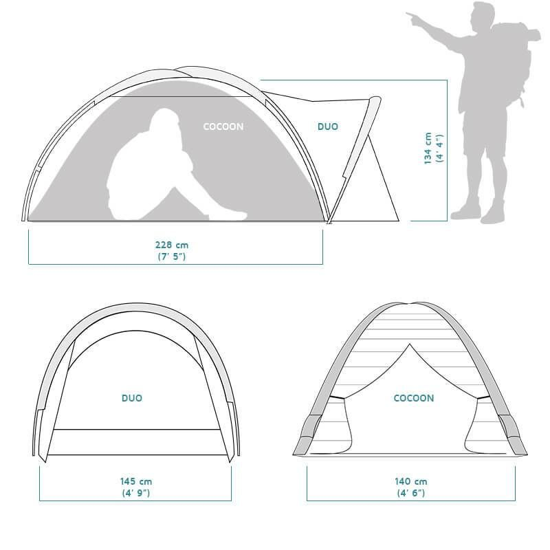 crua cocoon 2 person insulated tent