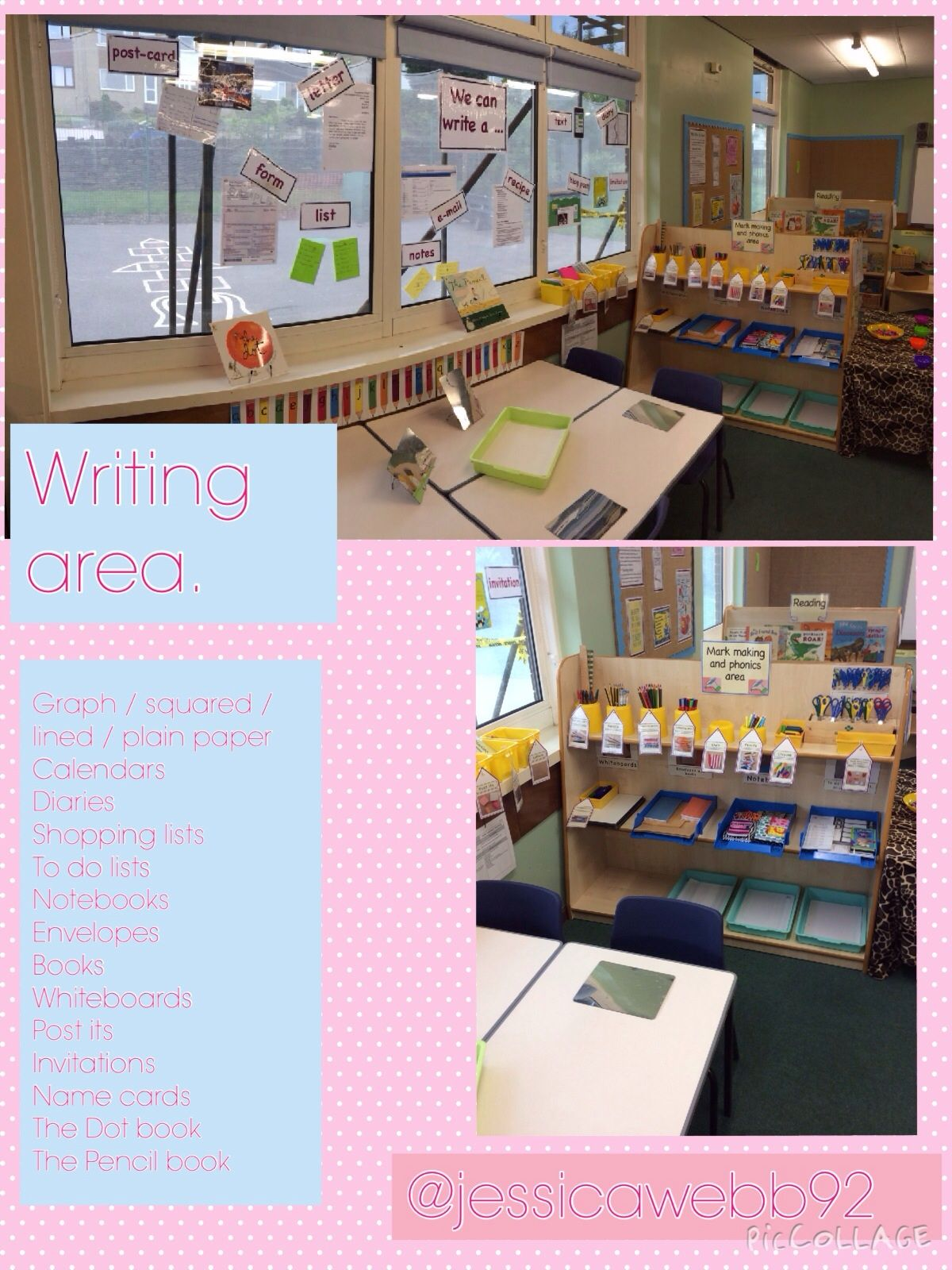 Writing area early years classroom layouts pinterest writing writing area stopboris Choice Image