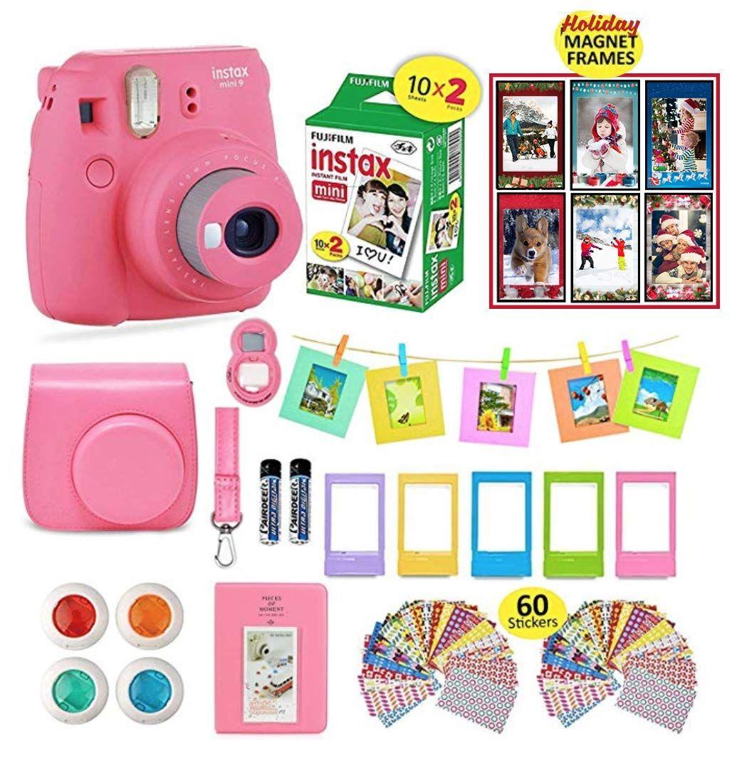 Deluxe Stylish Fun Accessory Kit for Fujifilm Instax Mini 8 Camera Yellow