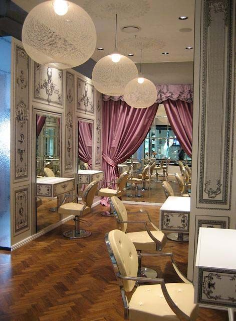 Luxury French Style Hair Salon At Ivy 16 Jpg 471 639 Salon Decor Salon Interior Design Hair Salon Design