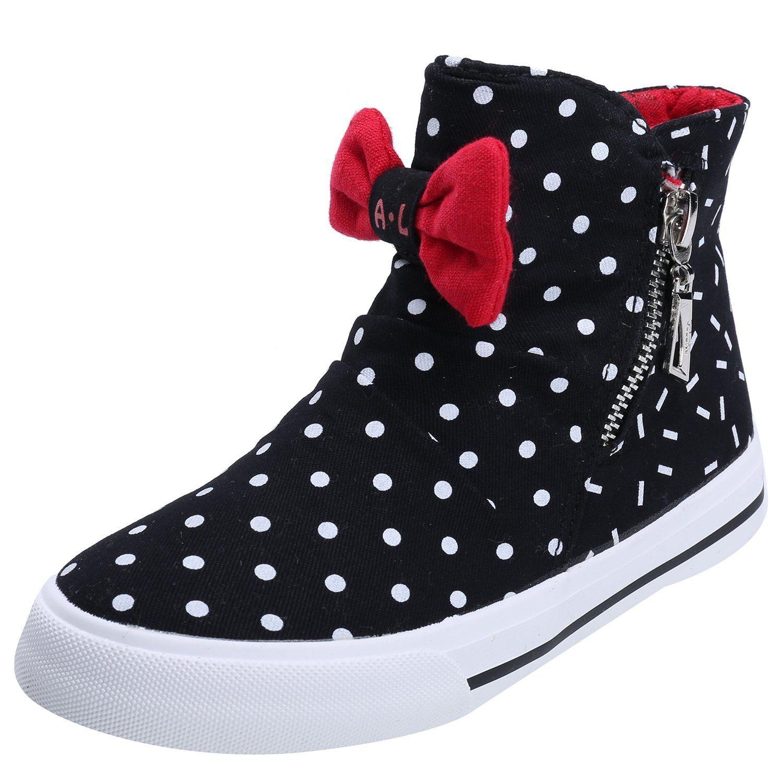 ef7e27fac2 Amazon.com | Alexis Leroy Kids' Shoes Girls' High-top Zipper Canvas ...