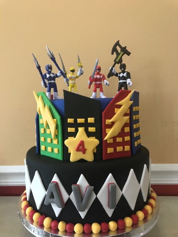 Power Ranger Cake With Images Power Rangers Birthday Cake