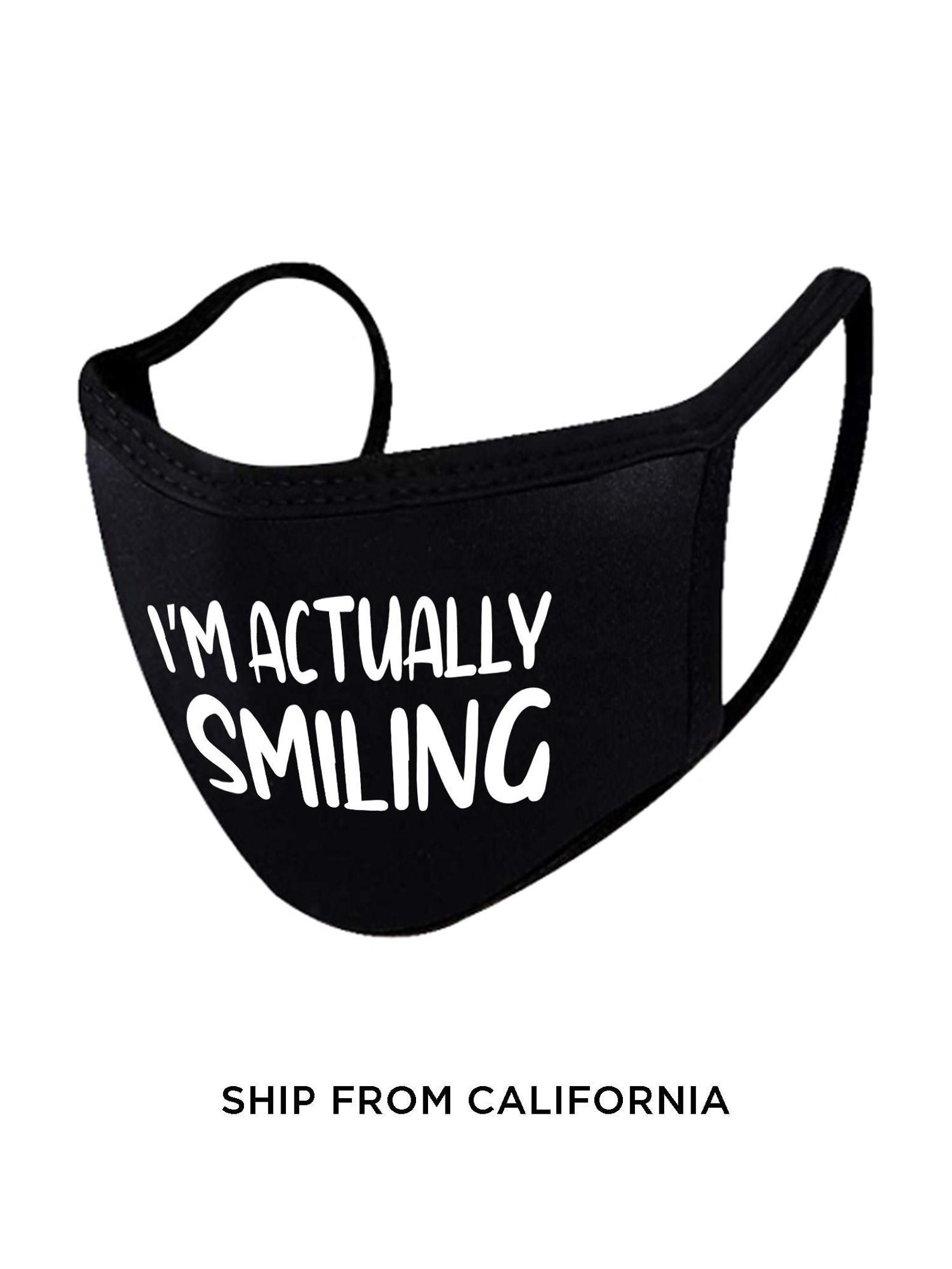 Funny Saying Face Mask Cute Quote Face Mask Funny Face Mask Etsy In 2021 Funny Face Mask Face Mask Cute Face Mask