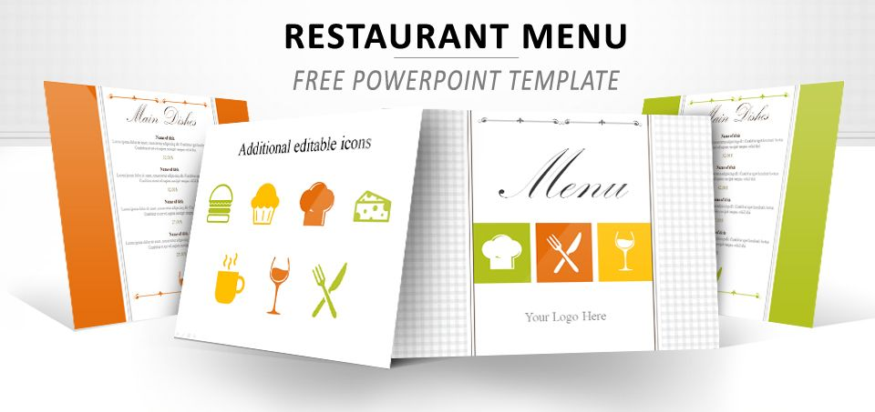 Restaurant Menu Powerpoint Template Pinterest Template Menu And