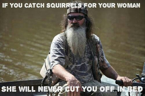 Squirrels advice from Phil