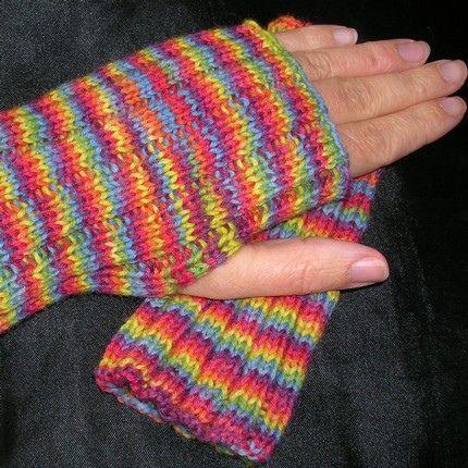 einfache fingerlose Handschuhe - simple fingerless mittens ...