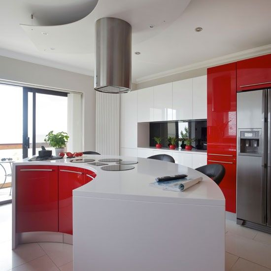 Modern Red And White Kitchen | Red Kitchen Colour Ideas | Colour | Design |  PHOTO GALLERY | Housetohome.co.uk
