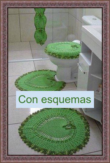 Resultado de imagen para pinterest juegos de baño crochet   este ...