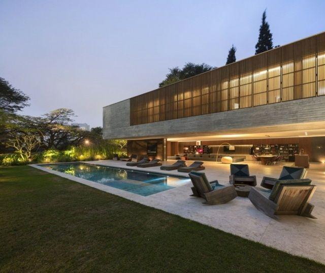 modern minimalistisch terrasse marmor platten   coole häuser und, Innenarchitektur ideen