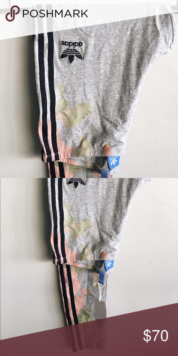 Adidas leggings con un pastel. Adidas diseño floral con pastel. 7592574 - grind.website