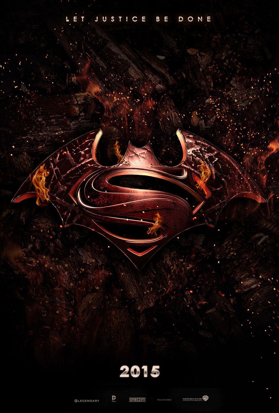 Batman Superman Teaser Poster By Josh I Cant Wait My Inner Nerd Is Going Bananas