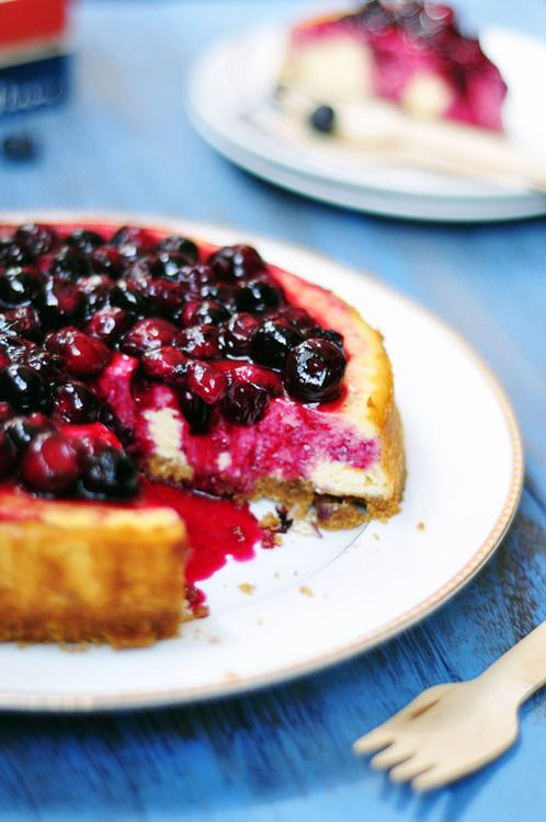 Low Calorie Blueberry Cheesecake
