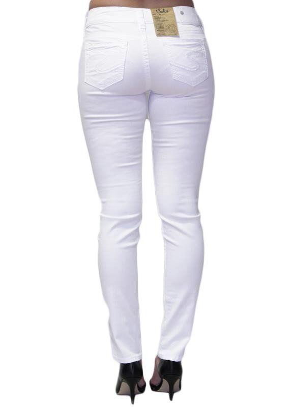 f6b54451 SILVER JEANS SALE Buckle Mid Rise Suki White Skinny Stretch Jean 28 x 31 # SilverJeans #SlimSkinny