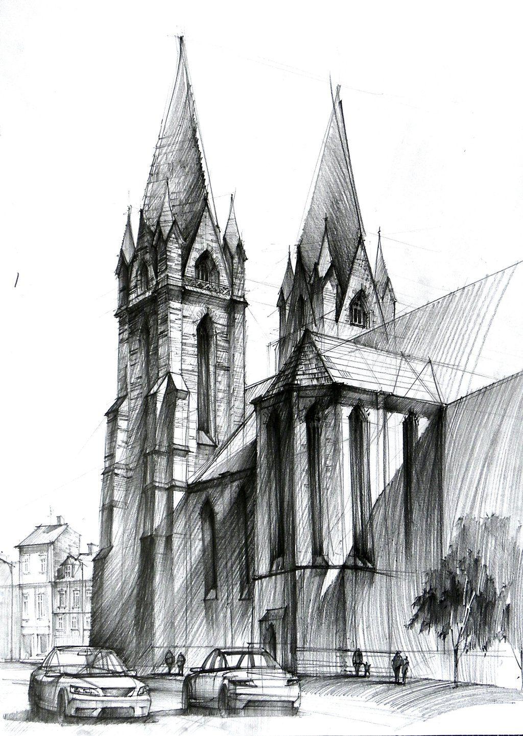 Gothic Cathedral II Katedra Gotycka By Lukasz Gac