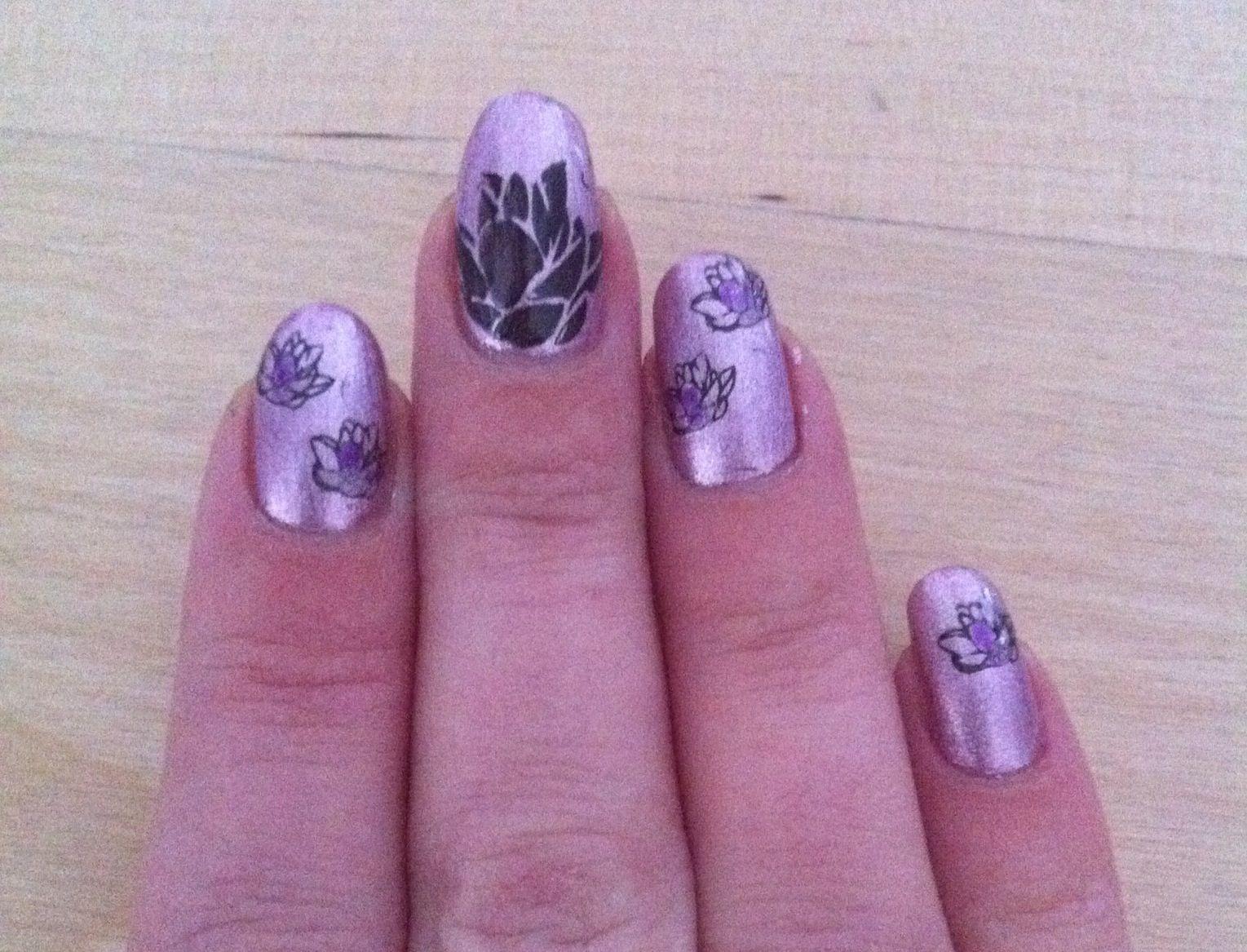Lotus nail art | Nail art, Nails, Art
