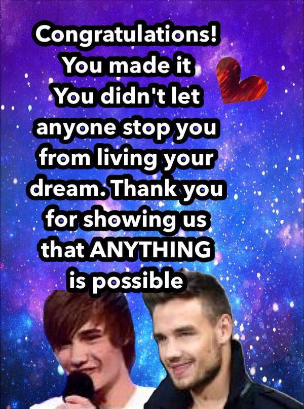 Thank you Liam! We love you!! <3