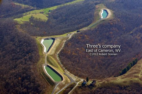 Triple Drilling Pits In West Virginia West Virginia Virginia Oil And Gas