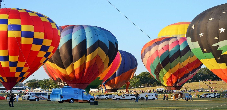 Each September, Plano, also the official Hot Air Balloon