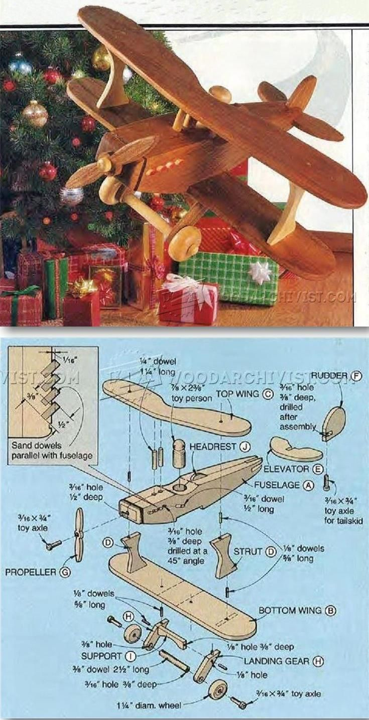 wooden biplane plans - children's wooden toy plans and