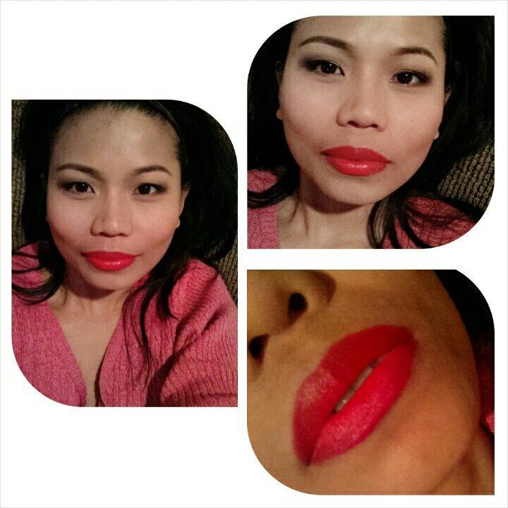 Orange red lips, nyx indie flick