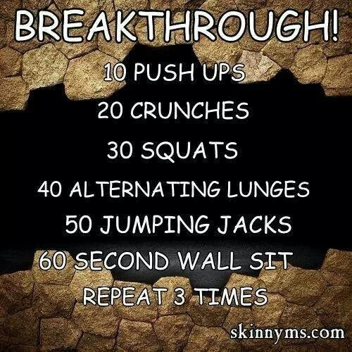 This one doesn't have any dreaded planks or burpees but you could add them in ;-)