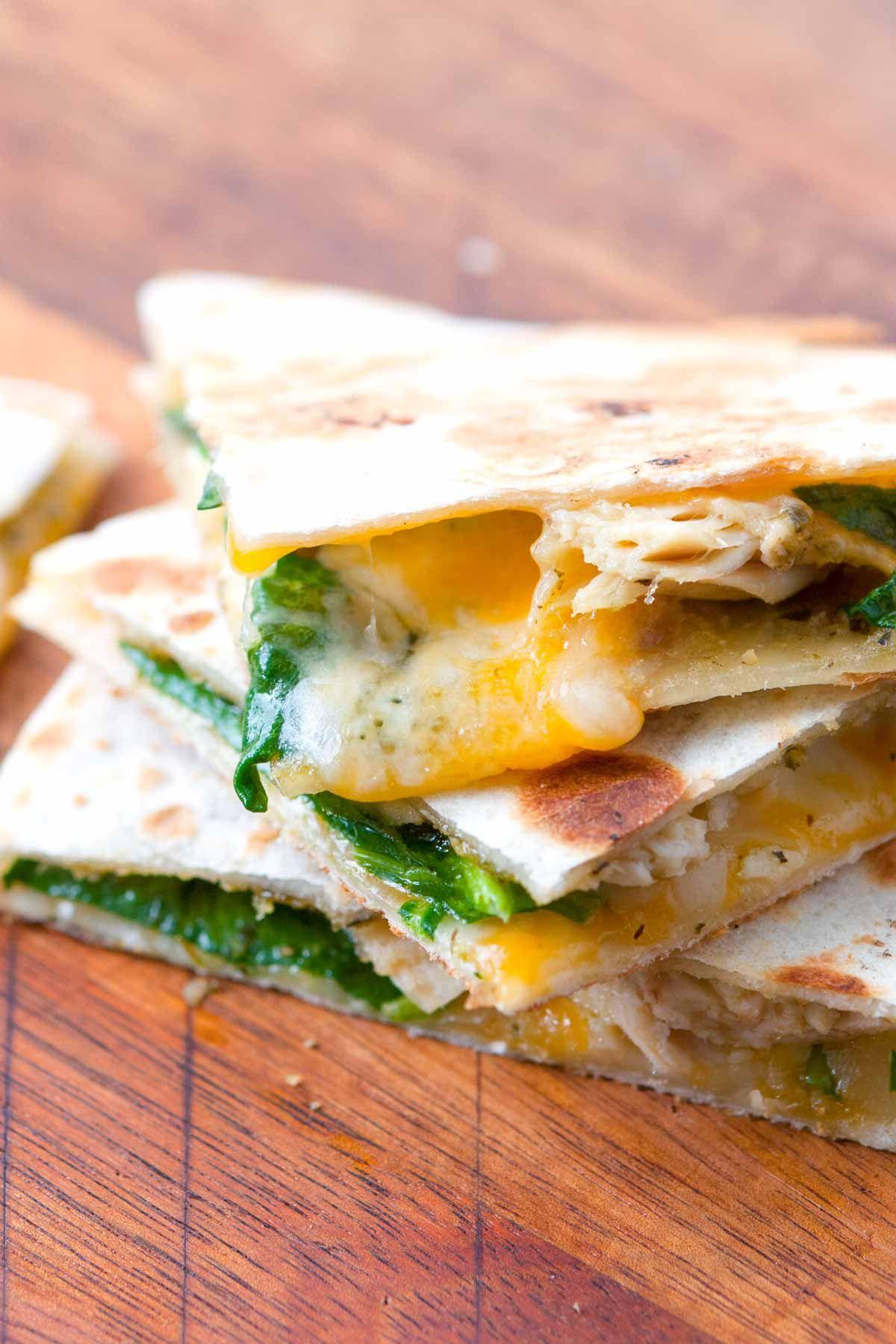 10 Minute Pesto Chicken Quesadilla Recipe Food Love
