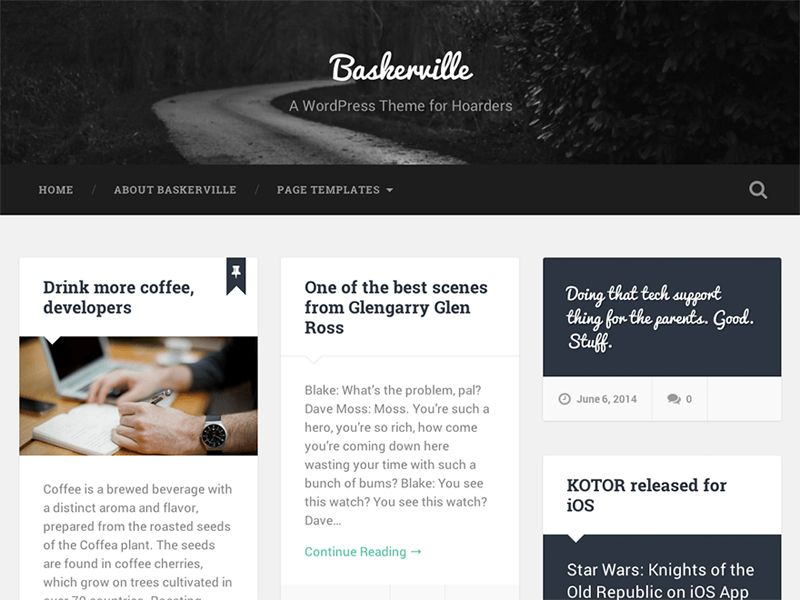 Baskerville Free Responsive WordPress Business Theme is a beautiful ...