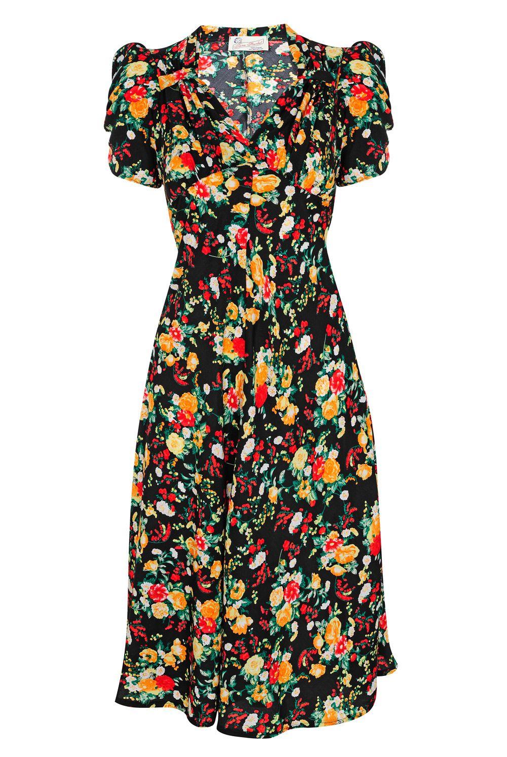 Tara Starlet 1940s 40s Style: The Perfect Classic Forties Tea-dress: Tara Starlet's