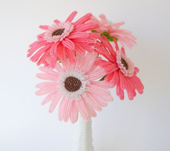 French Beaded Gerbera Daisy #handmade by LaurenHCreations ...