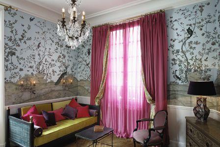 Private lounge of a Pavilion at the Saint James Paris   Travel ...
